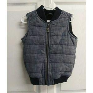 Old Navy Jackets & Coats - NWOT Old Navy Toddler Boy 3T Chambray Vest NWOT